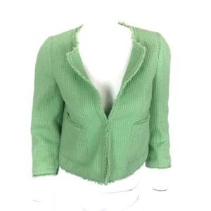 Zara Cropped Blazer Medium Green